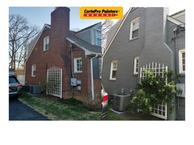 Exterior house painting before and after by CertaPro Painters in Alexandria, VA