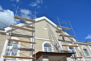 Damaged stucco repair