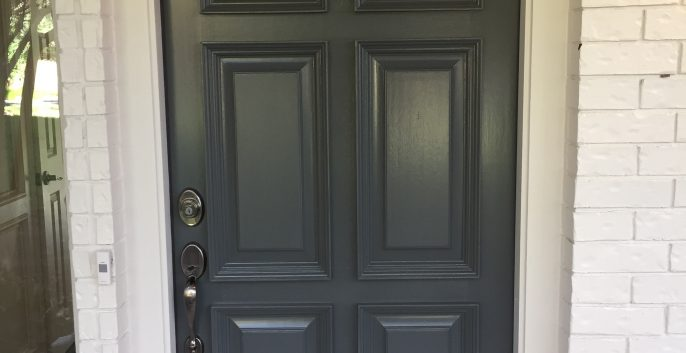 Door painting by CertaPro house painters in Austin, TX