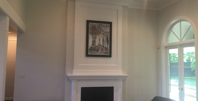 Interior living room painting by CertaPro house painters in Austin, TX