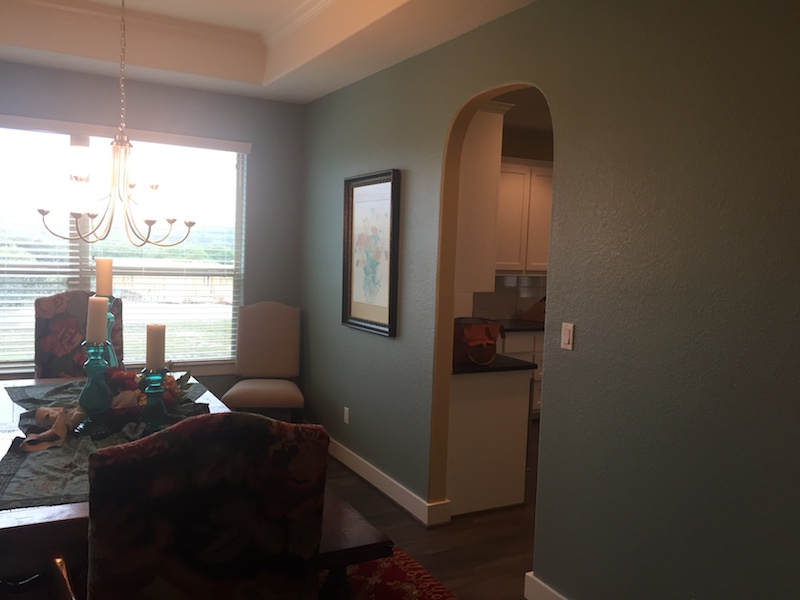 Interior dining room painting by CertaPro house painters in Austin, TX
