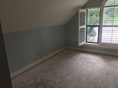 Interior bedroom painting by CertaPro house painters in Round Rock, TX