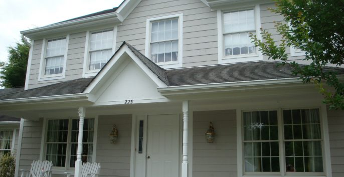Exterior painting by CertaPro house painters in Ruxton Riderwood, MD