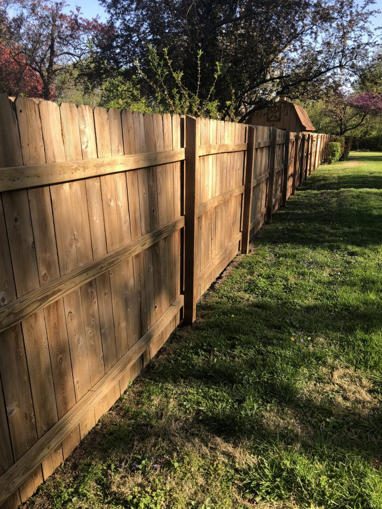 Fence Staining Before & After After