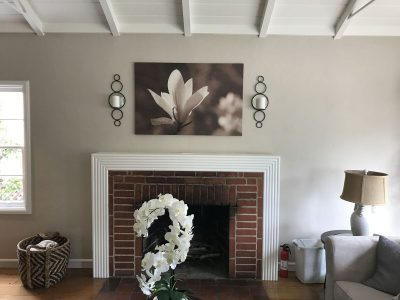 Interior fireplace painting by CertaPro house painters in Berkeley, CA