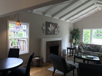 Interior living room painting by CertaPro house painters in Berkeley, CA