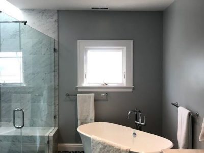 Interior master bathroom painting by CertaPro house painters in Oakland, CA