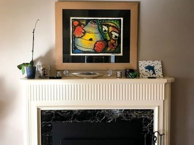 Interior fireplace painting by CertaPro house painters in Oakland, CA