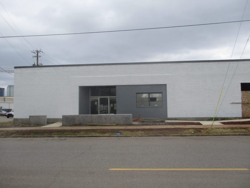 Commercial Building Front Exterior Painting After