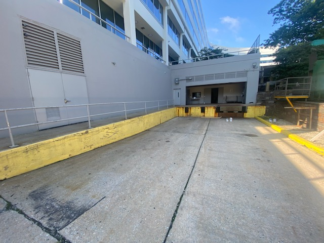 Office Building Commercial Painting – Loading Dock Before