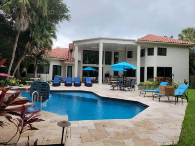 residential exterior pool area and stucco painters