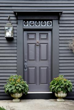 Dark gray door