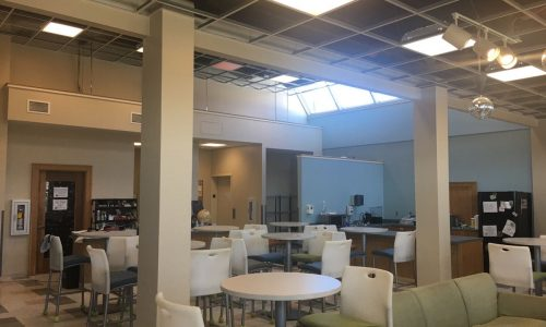 Duxbury Student Union interior painting