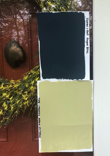 Paint Samples on Door