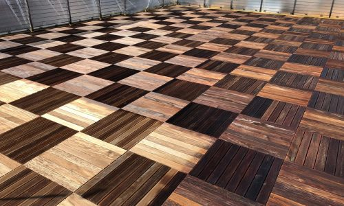 Commercial Patio Staining Project
