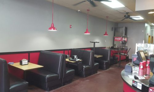 Restaurant Painting Service - Indoor Dining Area