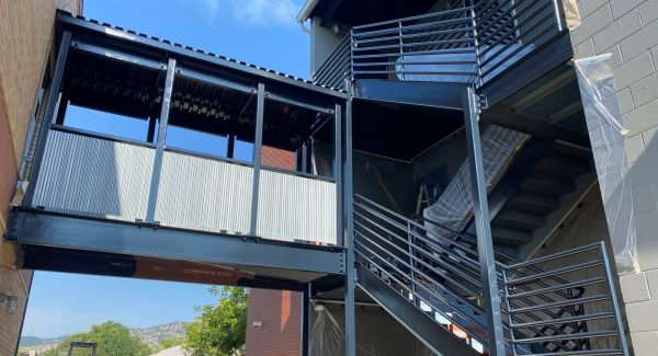 Refinished metal structures and stairs