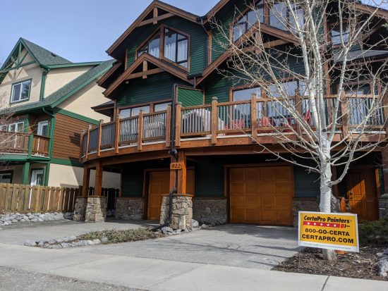Exterior House Painting in Canmore