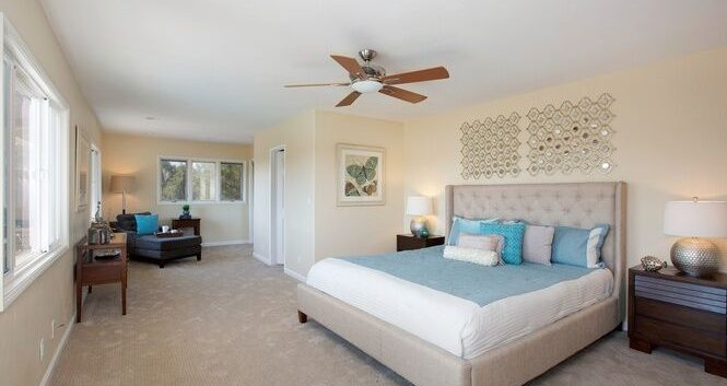 Interior Master Bedroom painting by CertaPro Painters in Crest, CA