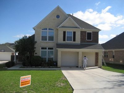 Exterior painting by CertaPro house painters in Stone Oak, TX