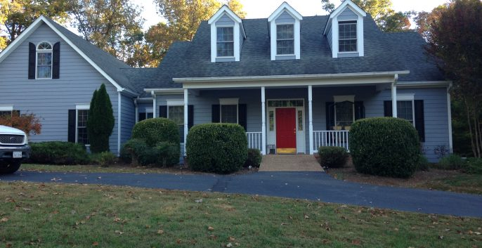 Exterior house painting by CertaPro painters in Charlottesville, VA