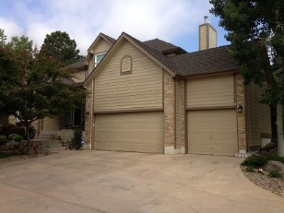 Exterior painting by CertaPro house painters in Broadmoor Bluffs, CO