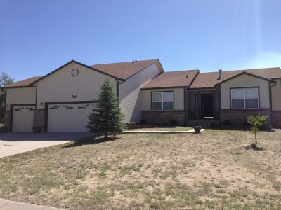 Exterior painting by CertaPro house painters in Falcon, CO