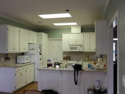 kitchen cabinets repainted