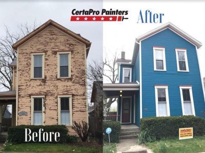 painted home before and after