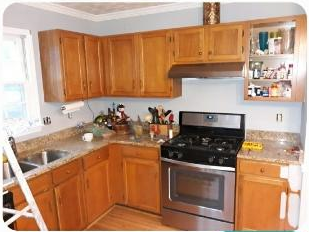 Kitchen Cabinets in Powder Springs, GA - Before