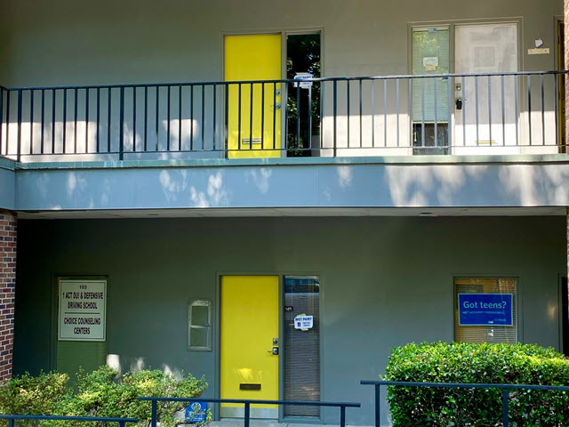 repainted office building doors in sandy springs after - certapro painters of dunwoody