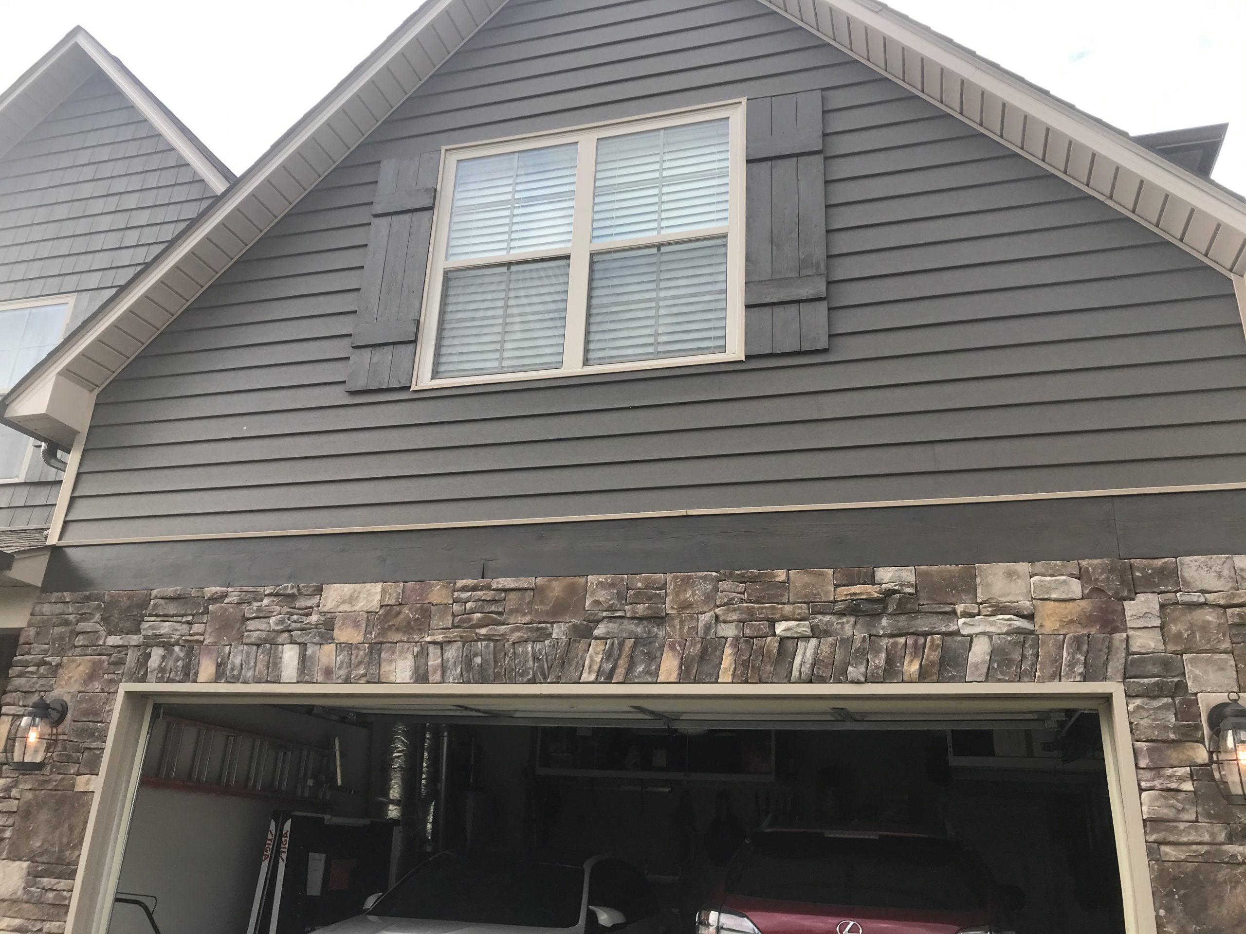 garage trim after replacement