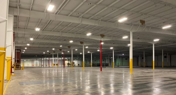 completed warehouse painting project
