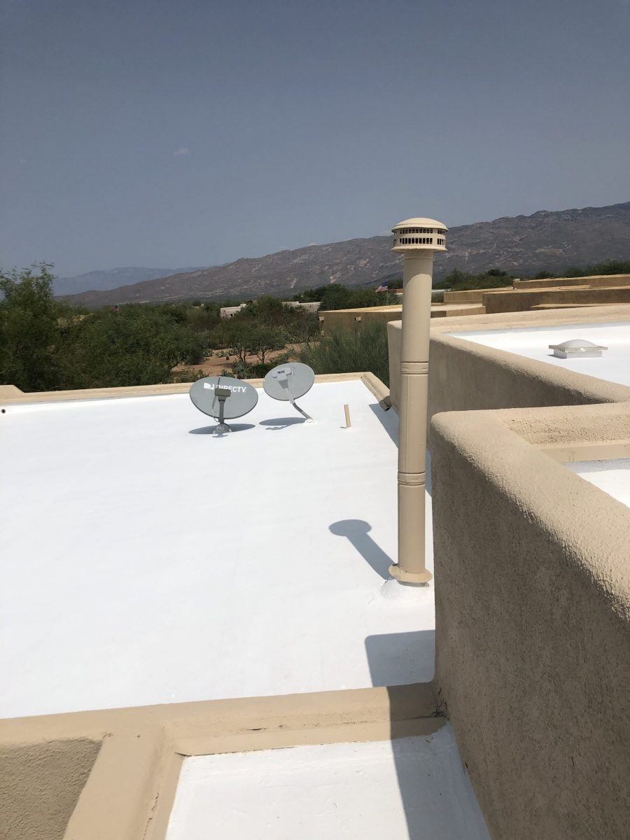 Residential Roof Coating Trim in Vail Completed by CertaPro Painters of Tucson Preview Image 1