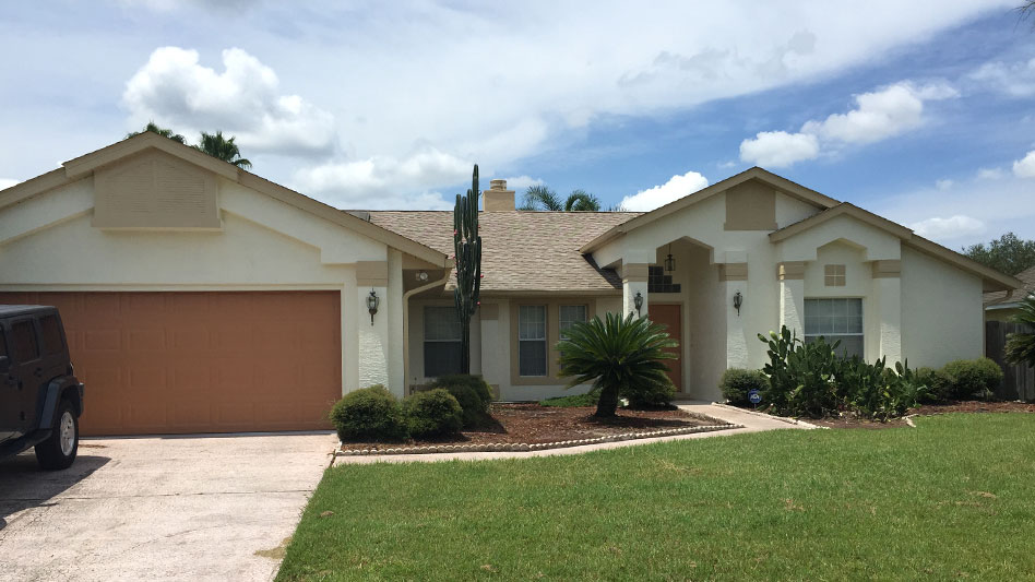 after photo of repainted house in orlando