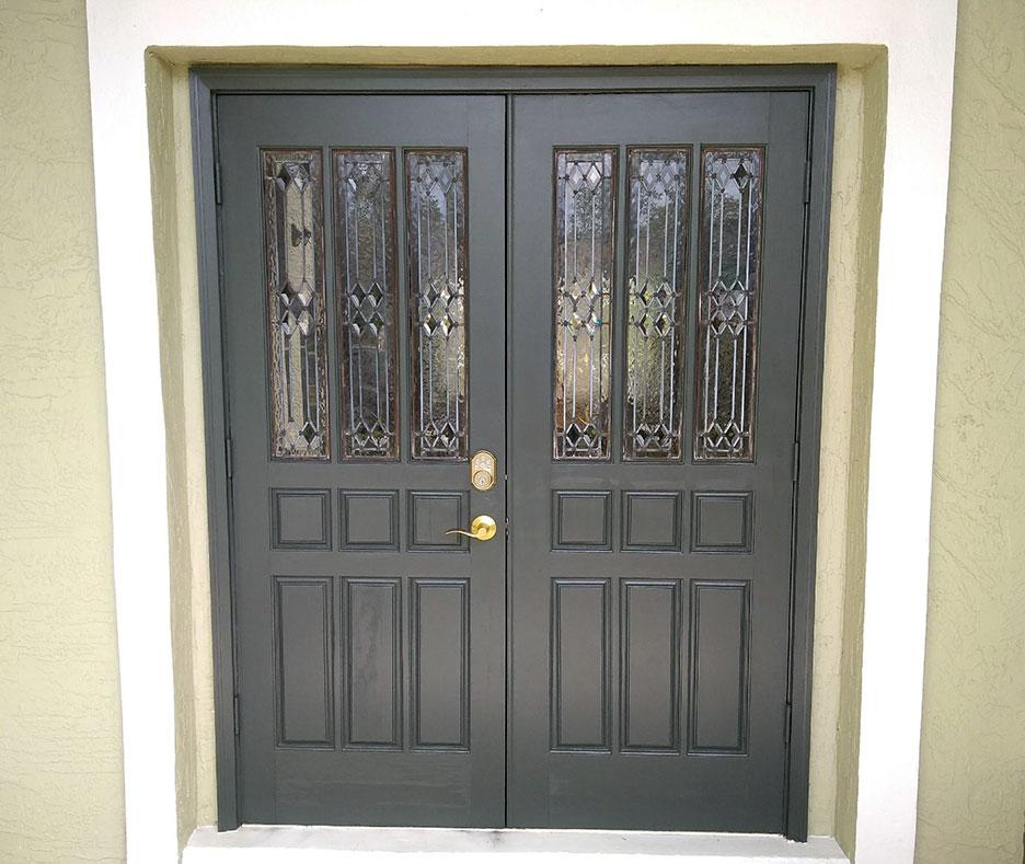After photo of a repainted door in Oviedo, FL