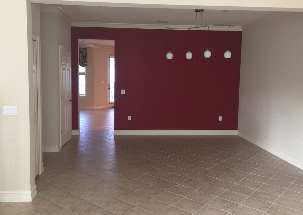Before photo of Interior house painting project in Oviedo, FL