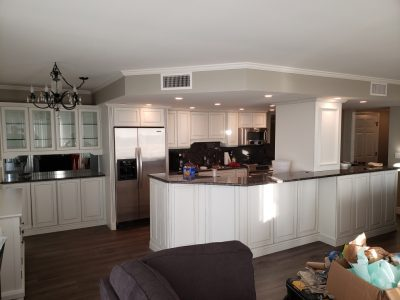 Cabinets after repaint
