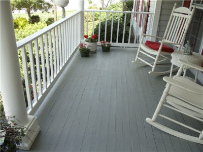 Porch restoration by CertaPro house painters in Fairfax, VA