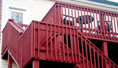 Exterior Deck Painting by CertaPro painters in Fayetteville, AR
