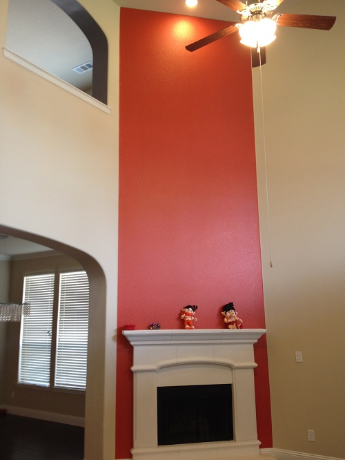Interior house painting by CertaPro painters in Frisco / Denton, TX