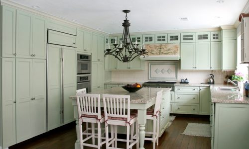 Country Kitchen Cabinets Painted Green