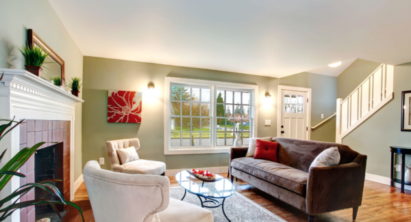 living room interior painting