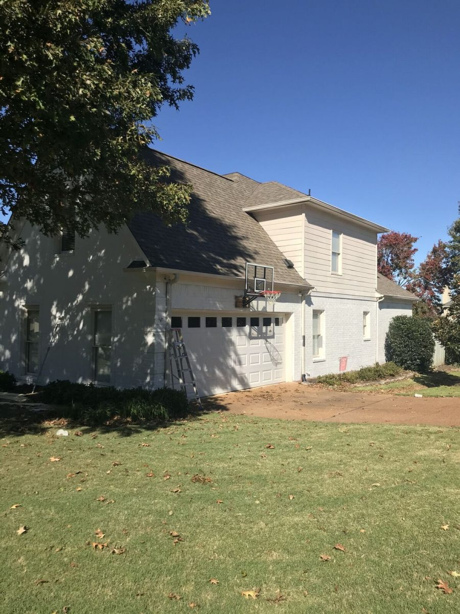 Exterior painting by CertaPro house painters in Collierville, TN