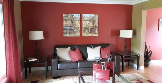 Interior living room painting by CertaPro house painters in Hamilton, ON