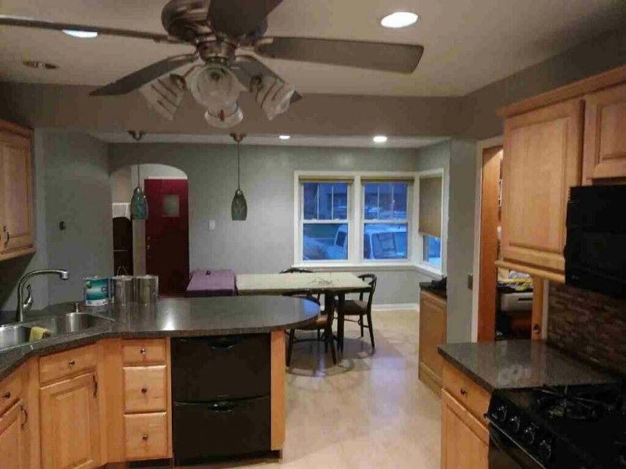 Interior kitchen painting by CertaPro Painters in Homewood, IL