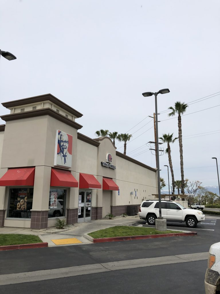 commercial stucco painting project