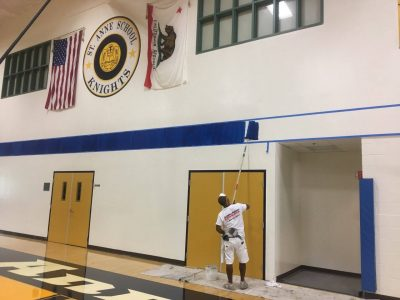 Painting a gym