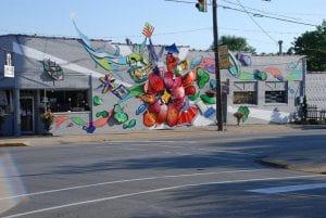 painted building in westfield in