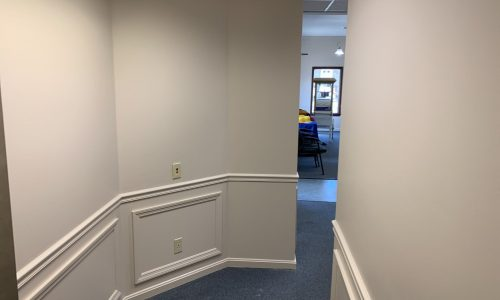 Interior Bank Wallpaper Removal and Painting